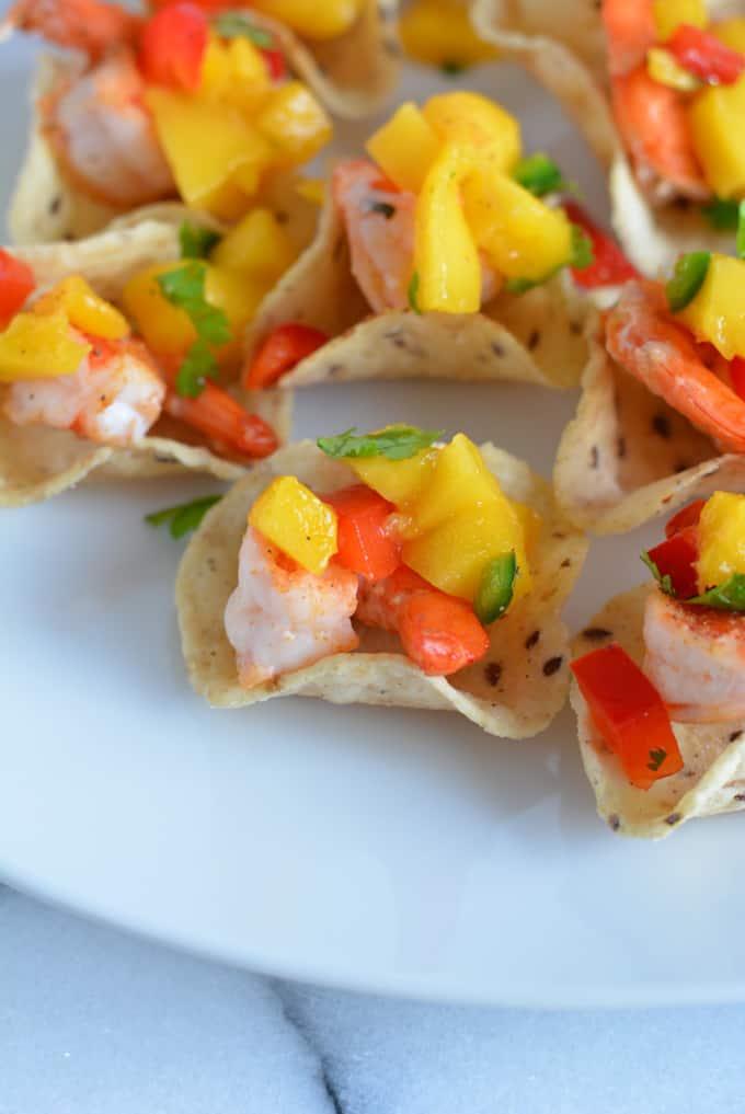 Mini Shrimp Tacos with Mango Salsa