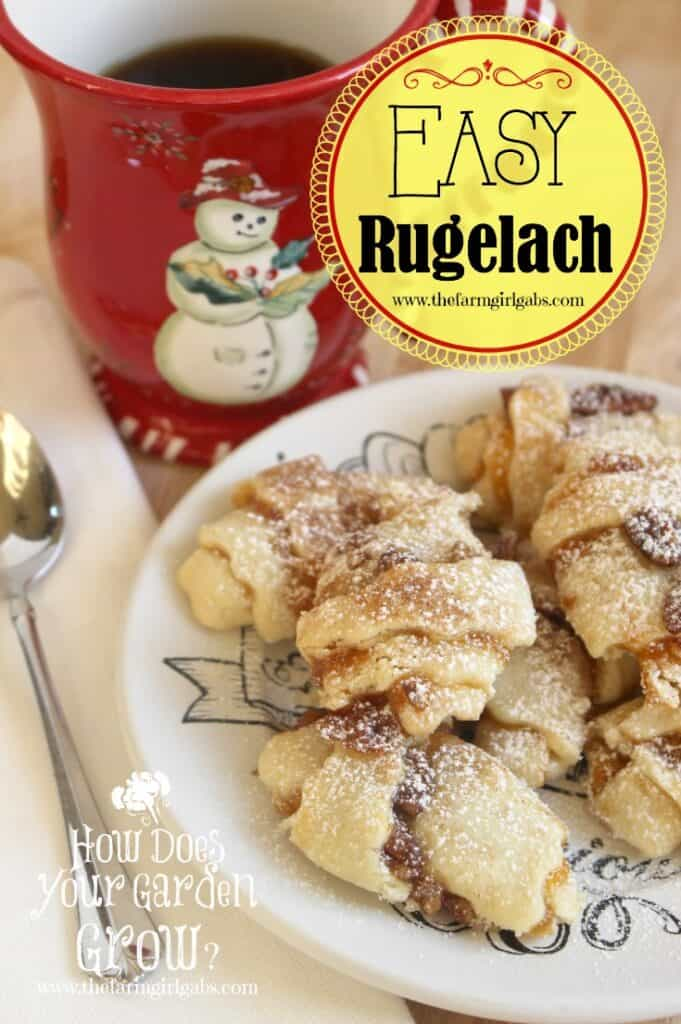 Rugelach is a flaky pastry recipe filled with apricot jam, nuts and a cinnamon-sugar mixture. This easy version is a snap to make.