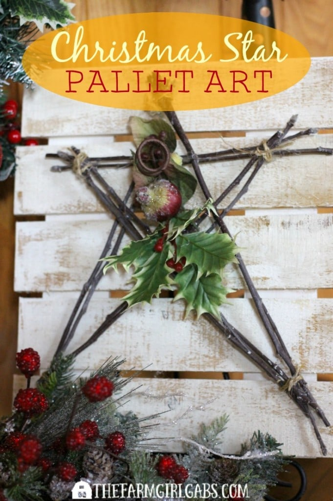This Christmas Star Pallet Art is a simple Christmas craft to make. It makes a beautiful Christmas Decoration.