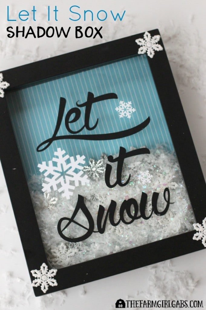 While the weather outside may be frightful, this Let It Snow Shadow Box craft is really delightful.
