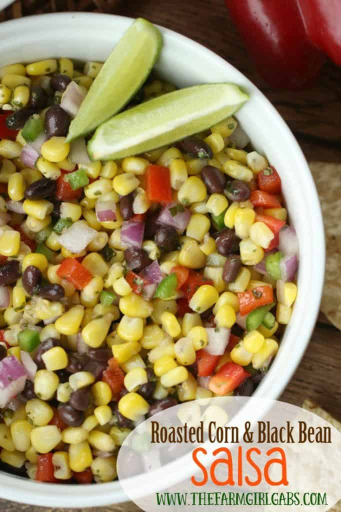 Need a quick snack or appetizer? Try this Roasted Corn & Black Bean Salsa recipe. It makes a great appetizer for your next party or is a perfect topping for tacos.