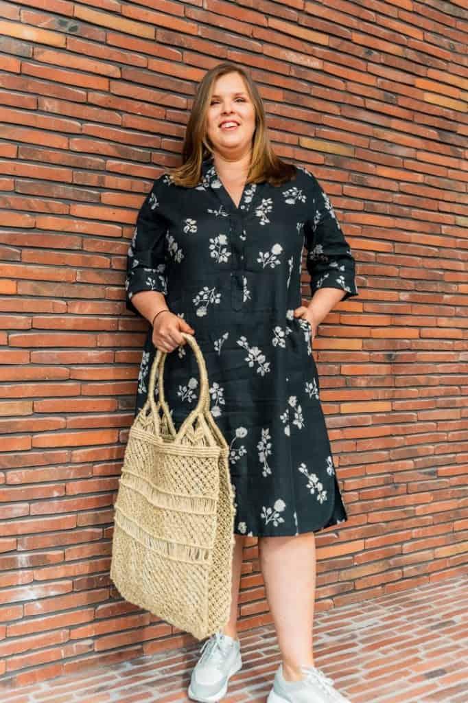 rosso35 jurk print linnen italiaans tineb oudenaarde 682x1024 1