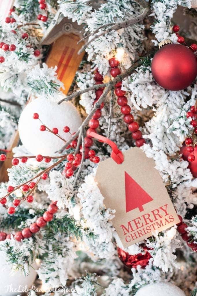 Gift Tag Christmas Ornaments