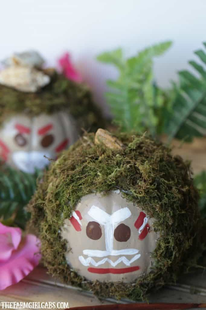 Because menacing coconuts need their own pumpkin design for Halloween! Check out these Disney Moana-Inspired Kakamora Pumpkins that you can make at home.