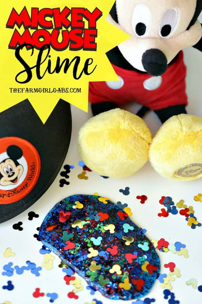 Oh toodles. The kids will have a ball playing with this fun Meeska Mouska Mickey Mouse Slime recipe. Make a batch today. #Slime #SlimeRecipe #MickeyMouse #DisneyCraft #WaltDisneyWorld