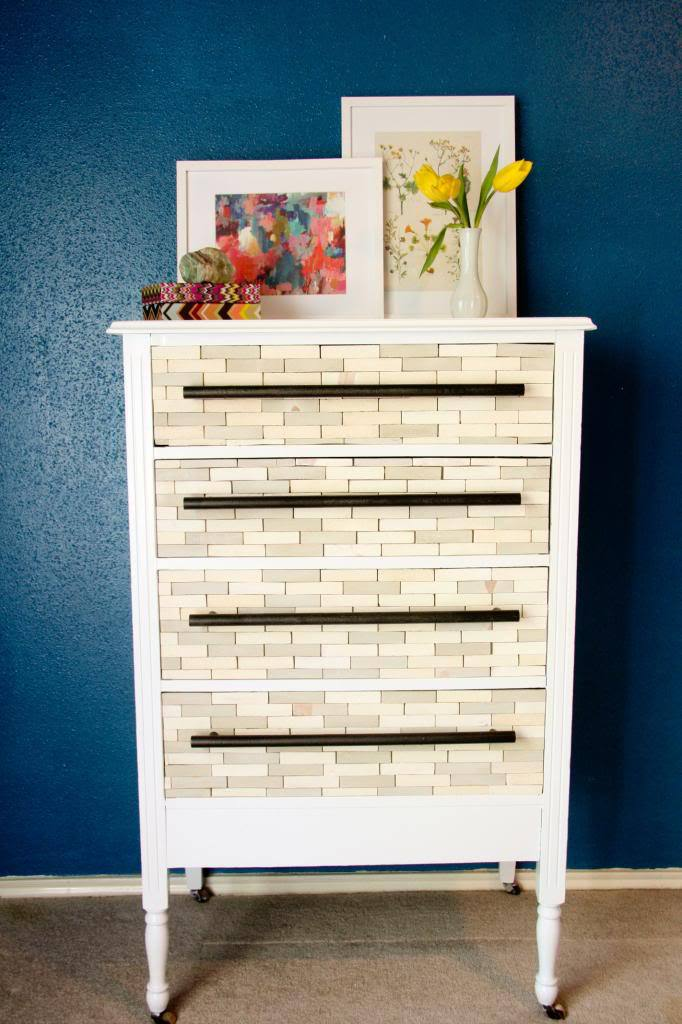 west elm wood tiled dresser knockoff