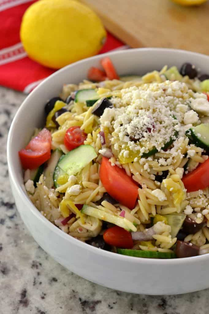Greek Orzo and Feta Salad