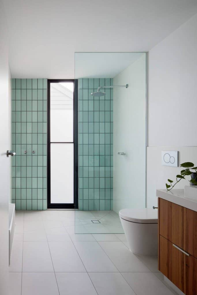 Vertical Glass Subway Tile