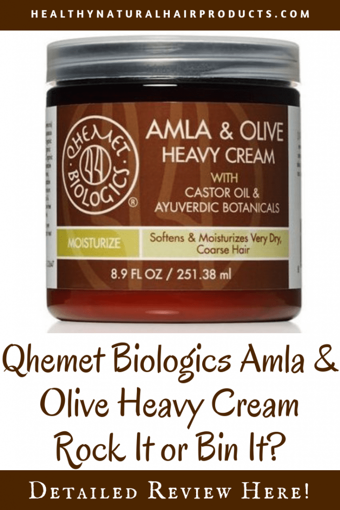 Qhemet Biologics Amla and Olive Heavy Cream, Natural Hair Products Review