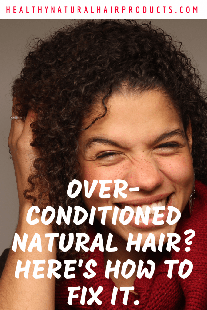 Did you over-condition your hair. Here's how to fix it