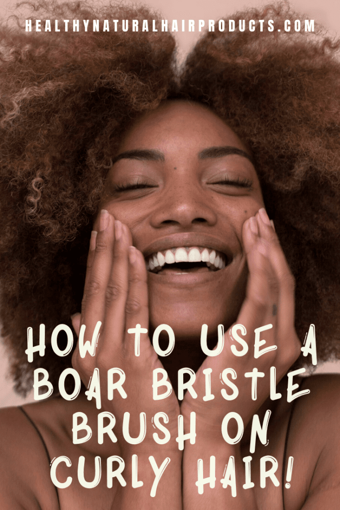 How to use a boar bristle brush on curly hair