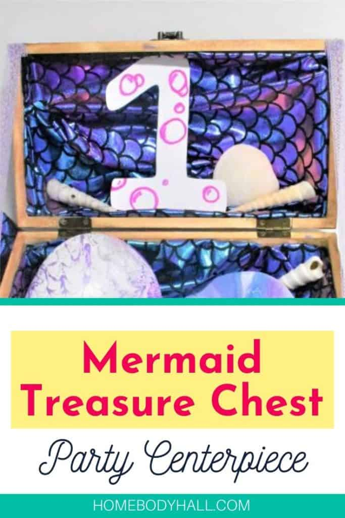 Mermaid Treasure Chest centerpiece