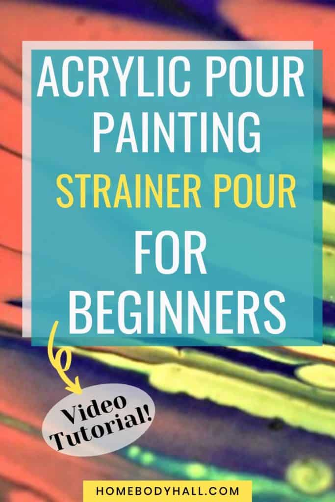 Acrylic Pour Painting Strainer Pour for Beginners