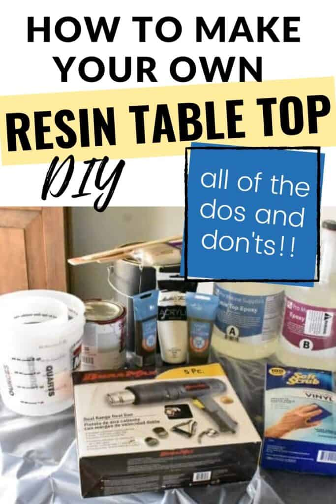 How to make your own Resin Table Top