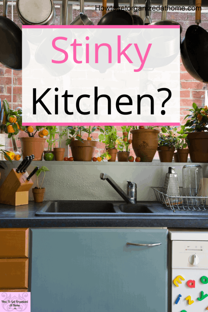Is your kitchen a bit stinky? Do you know where the smell is even coming from? These tips will help you identify the problem area in your kitchen and help you come up with a solution to prevent the smell coming back. So your kitchen smells clean and fresh always. #smell #kitchenfresh #stinkykitchen