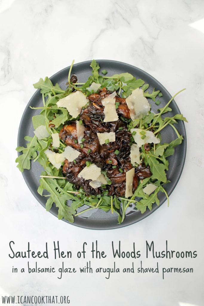 Sauteed Hen of the Woods Mushrooms