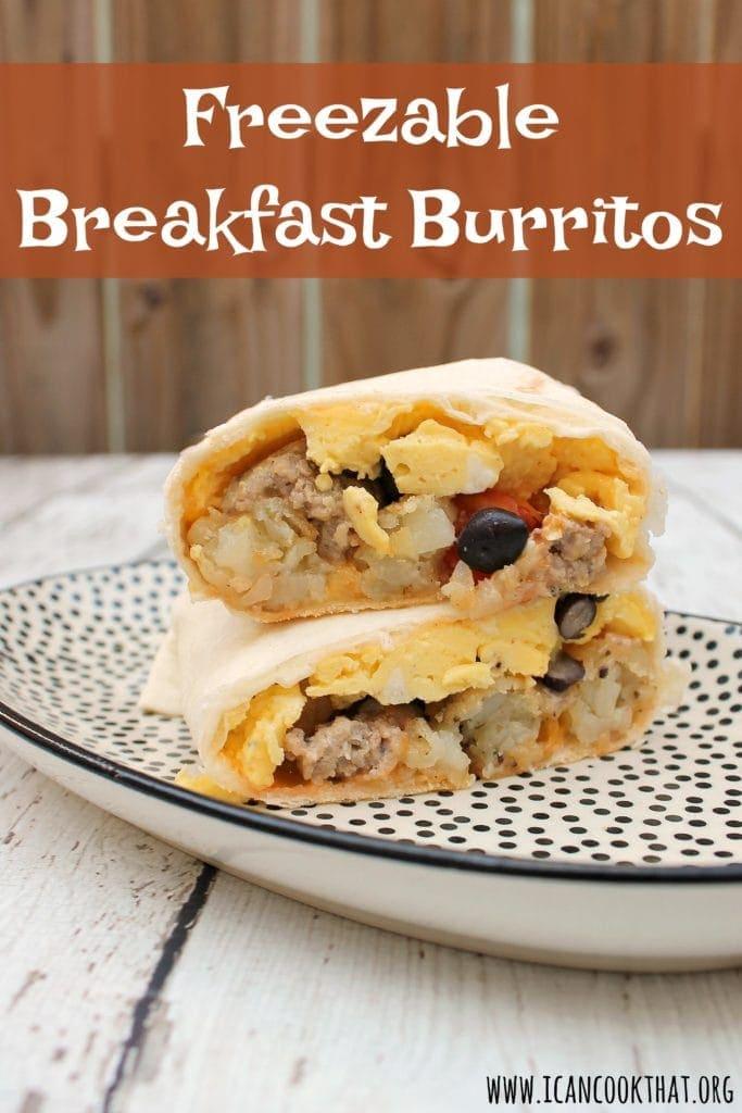 Freezable Breakfast Burritos