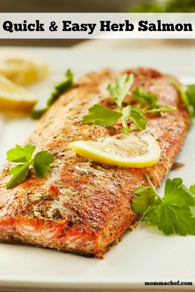 quick and easy herbed salmon recipe