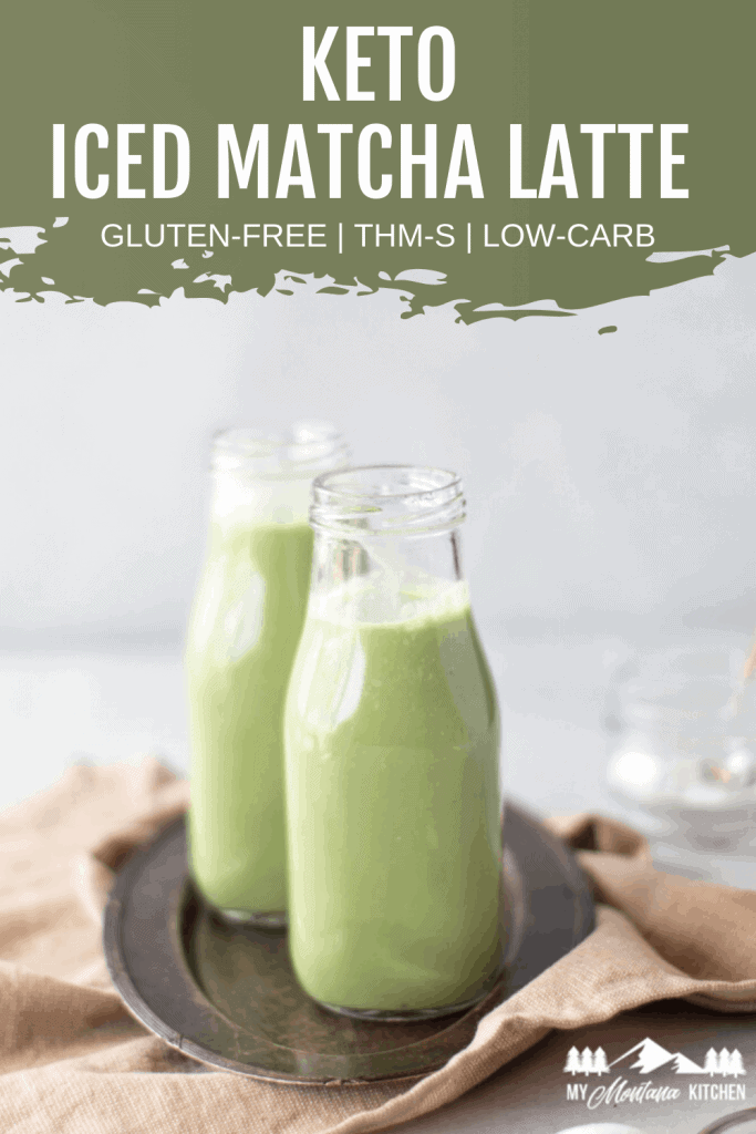 Pin image for keto iced matcha latte