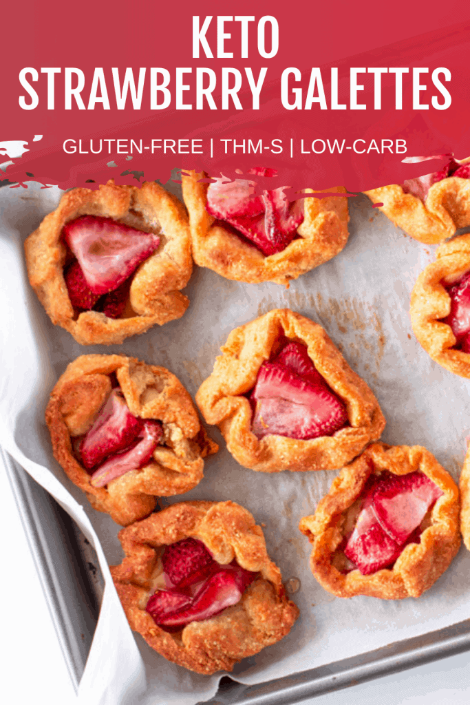 Pin image for Keto Strawberry Galettes