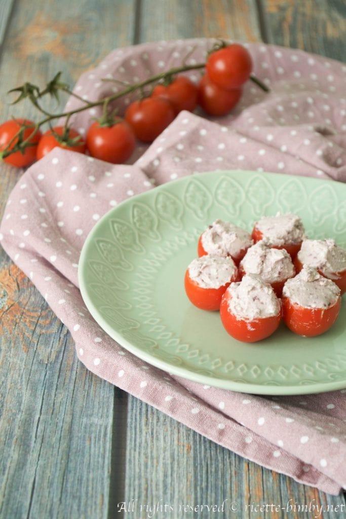 Pomodorini ripieni di feta bimby