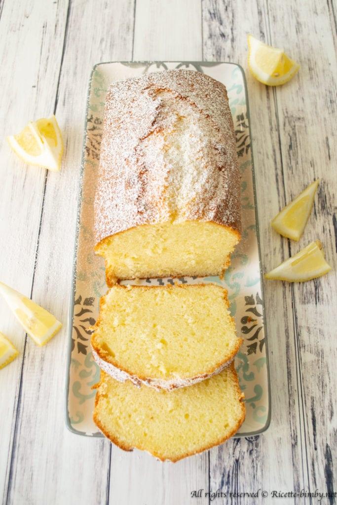 Plumcake al limone senza latticini bimby