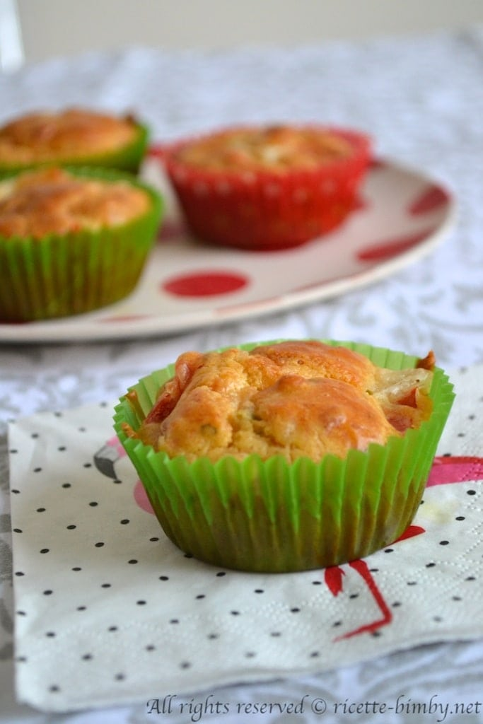 Muffin salati ai peperoni bimby