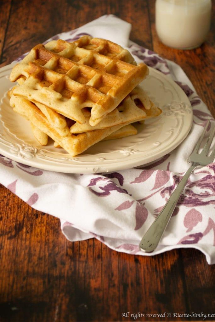 Waffle senza burro bimby