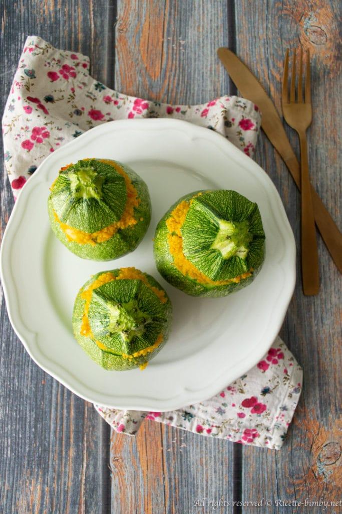 Zucchine ripiene di cous cous bimby