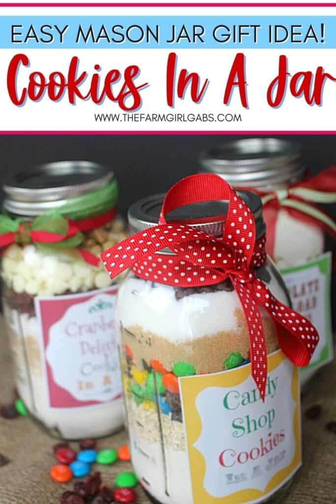 Cookies In A Jar Mason Jar Gift Idea