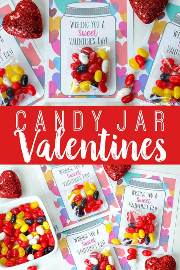 Yourkids will have a sweet Valentine's Day making these adorable Sweet Candy Jar Valentines for their friends. #valentinesdaycard #kidscraft