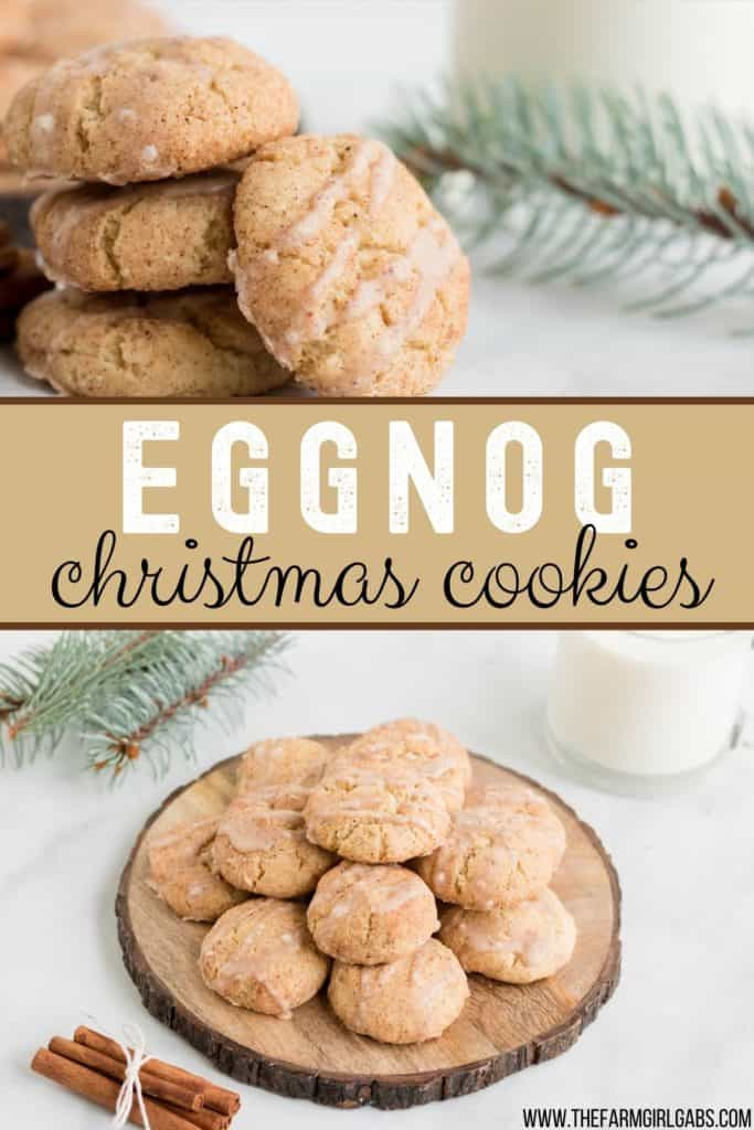 Eggnog Cookies are a fun twist to the classic snickerdoodle cookie. This easy holiday cookie recipe is soft, chewy and rolled in cinnamon sugar.