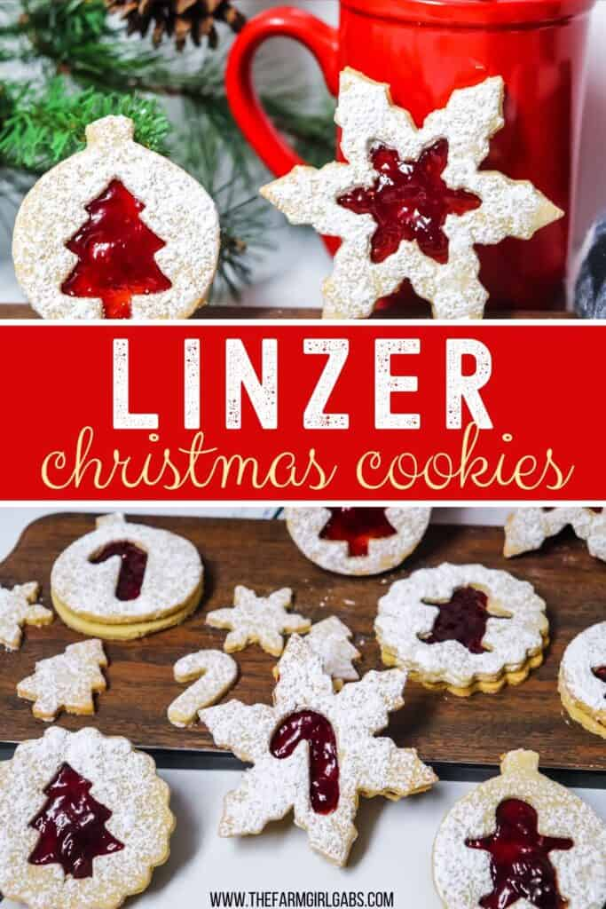This Classic Linzer Cookies recipe will totally be your jam (no pun intended). Win your Christmas Cookie Swap with this delicious cookie recipe. This traditional Linzer sandwich cookie recipe is full of buttery almond flavor and filled with sweet raspberry jam. #chrismtascookie #cookieswap #linzercookies