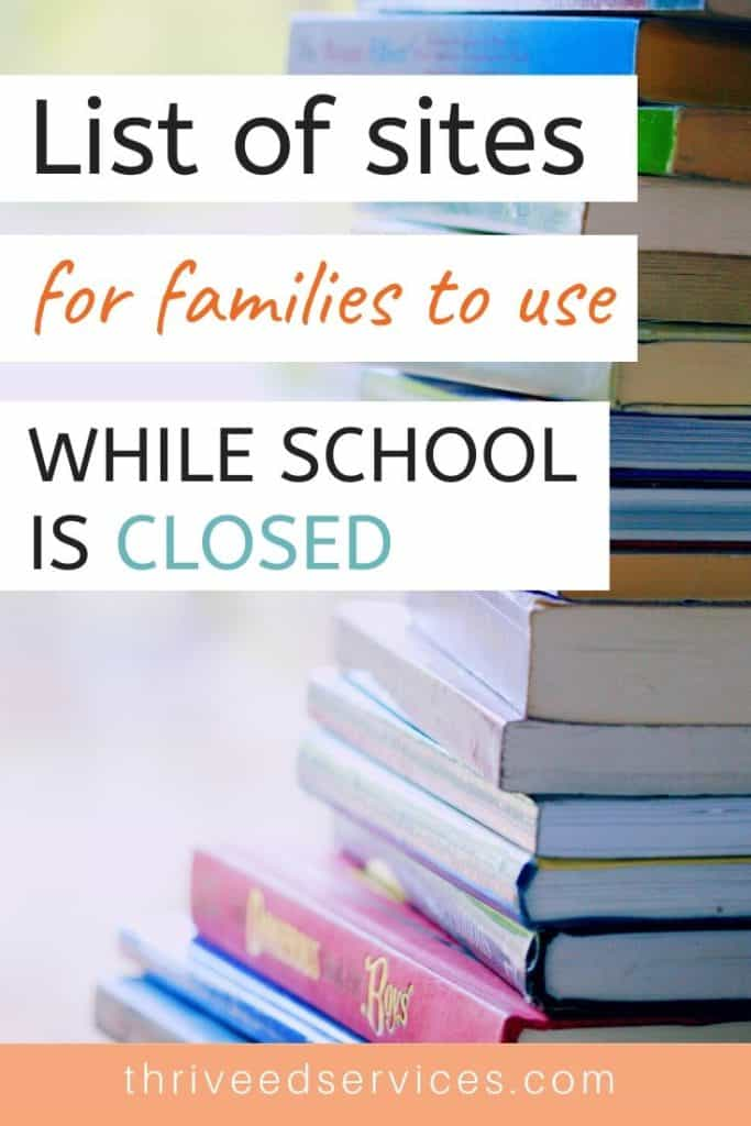 free online resources to use while school is closed
