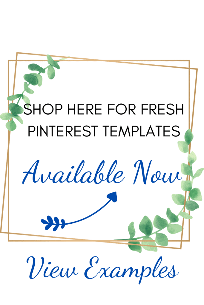 Shop our store for Fresh Pinterest Pins, social media templates and printables