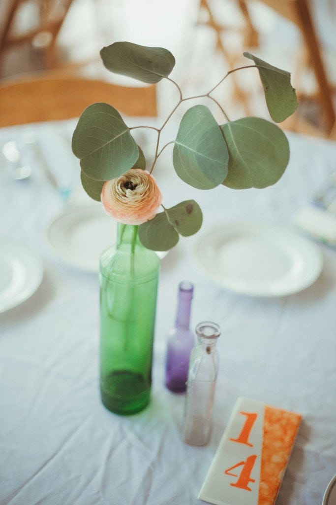wedding table decoration flowers