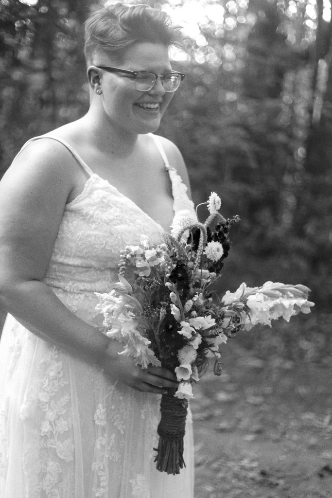 bride candid laughing