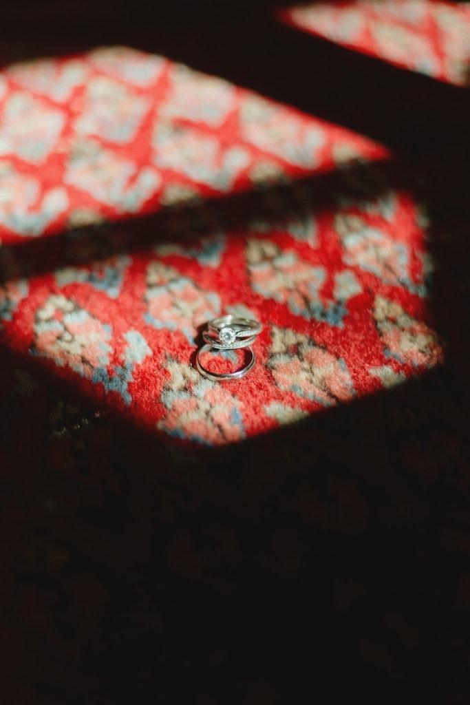 wedding rings backyard wedding