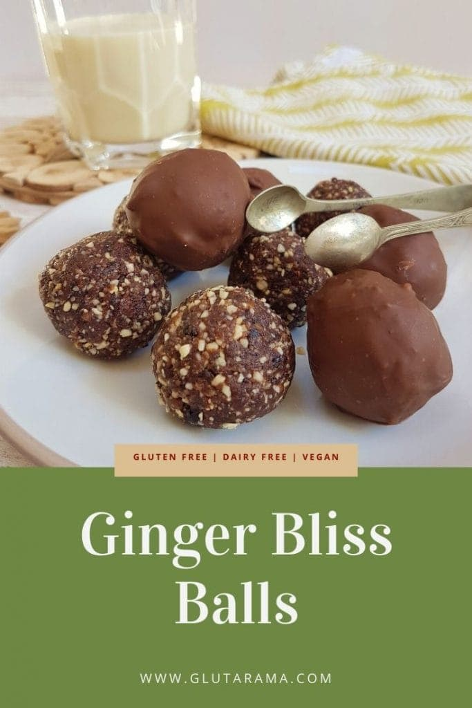 Free From Raw Ginger Bliss Balls Gluten Free, Dairy Free and Vegan