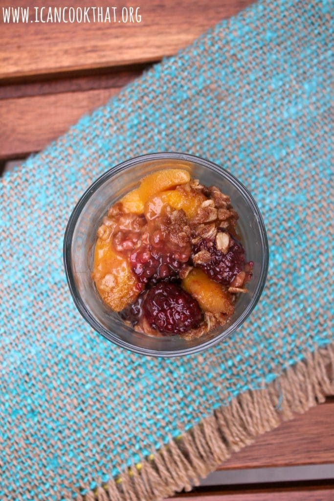 Blackberry-Peach Slow Cooker Crumble