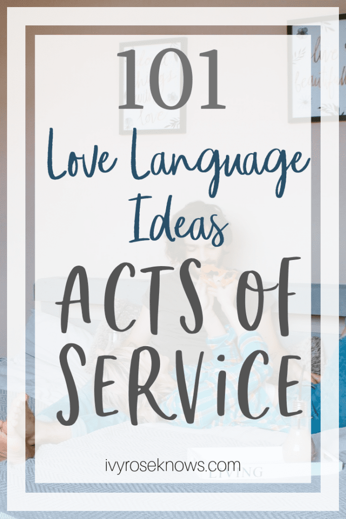 Acts of Service Love Language Ideas