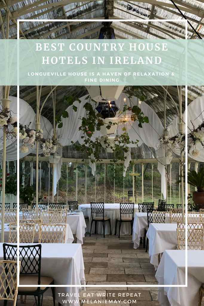 Longueville House Hotel Restaurant review - this hotel is a stunning four-star heritage-listed Georgian property in Mallow Co. Cork in Ireland. This is the beautiful Turner Victorian Conservatory. Longueville House Restaurant review.