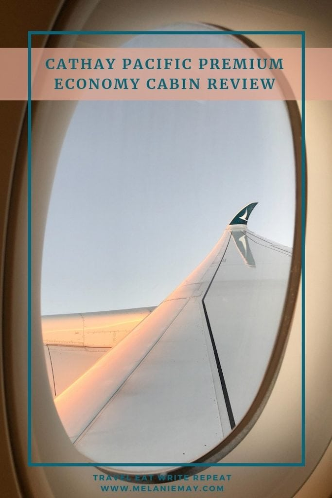 Cathay Pacific Premium Economy cabin review - what do you get for your money and is it worth the extra cost? A comprehensive review.