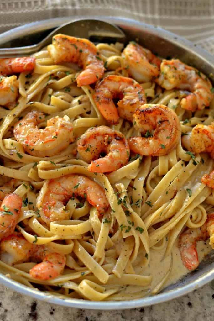 Cajun Shrimp Pasta Pasta And Shrimp In A Creamy Creole Sauce