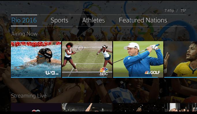 Xfinity X1 Comcast NBCUniversal Rio Olympics.