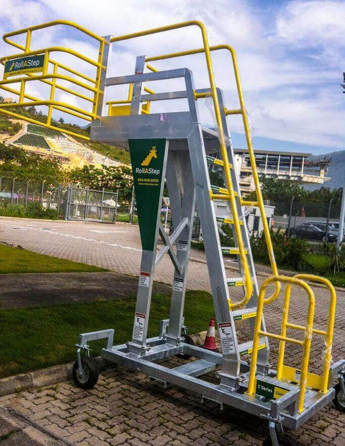 Mobile Cantilever Work Platform for Safe Loading and Unloading.