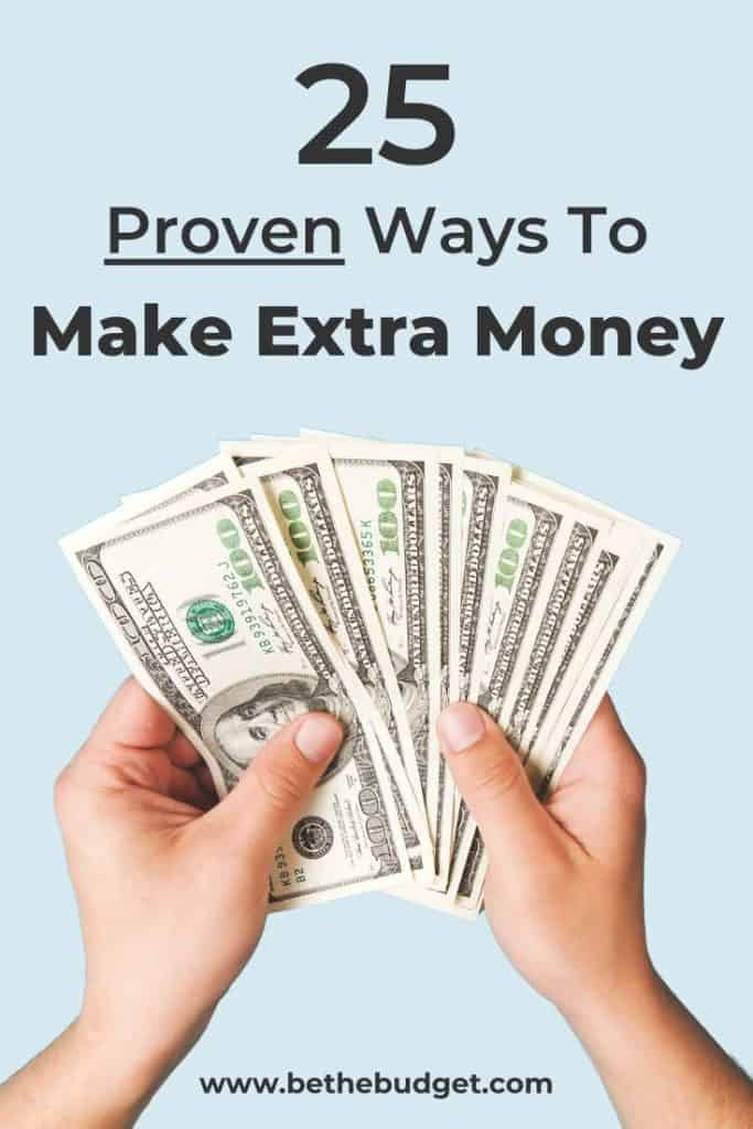 25 Proven Ways To Make Extra Money | Be The Budget