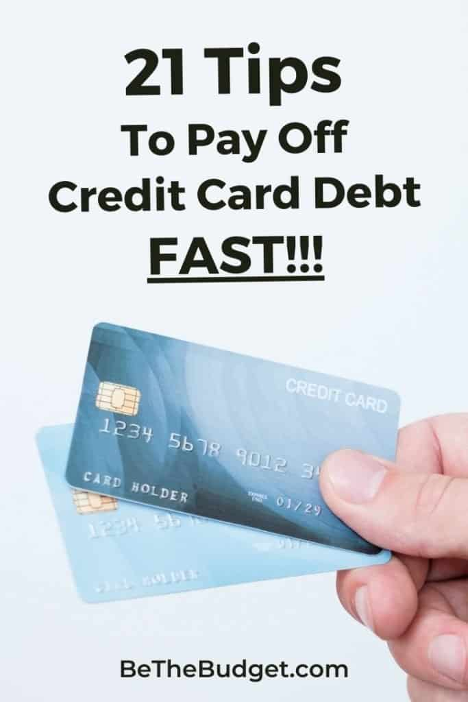 Tips For Paying Off Credit Card Debt | Be The Budget