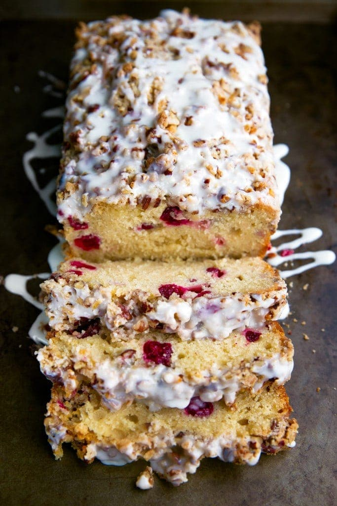 White Chocolate Cranberry Loaf with Pecan Streusel | Broma Bakery