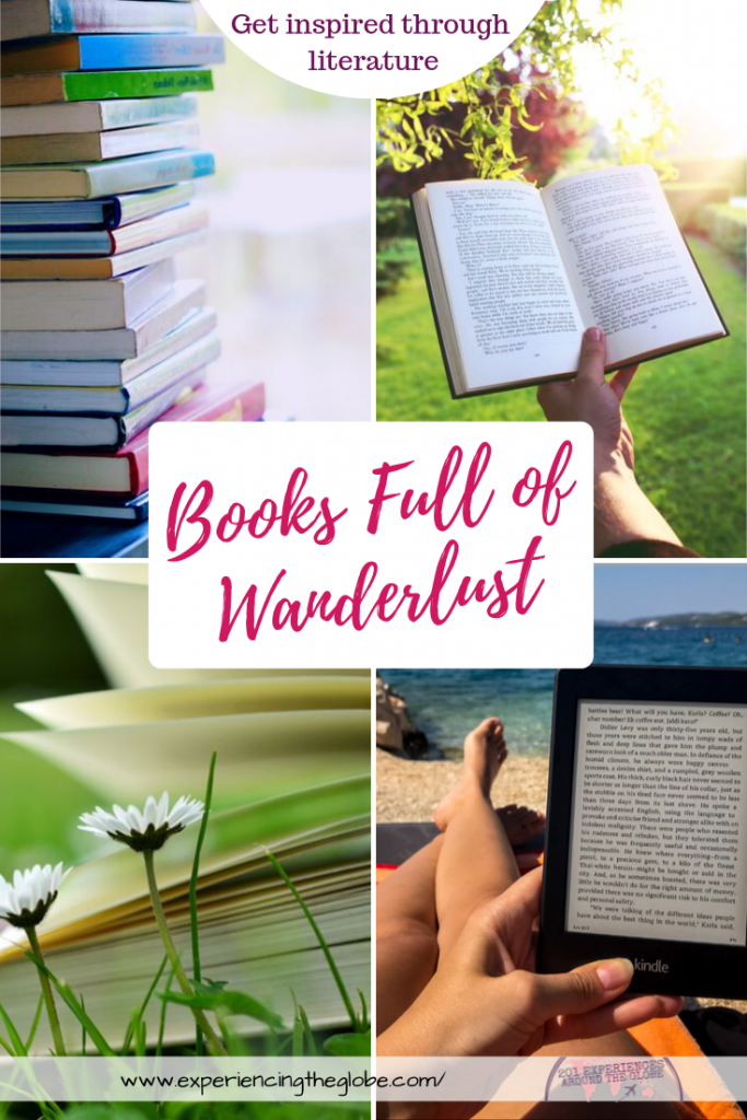 Get inspired by these books full of wanderlust. Whether you want to travel without leaving home, or you want a push to plan the next trip, these books should be read by every traveler #TravelBooks #Wanderlust #BooksForTravelers